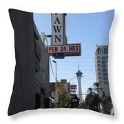 World Famous Gold And Silver Pawn Shop Throw Pillow