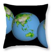 World Globes Throw Pillow