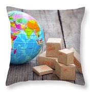 World Import And Export Throw Pillow