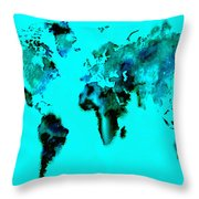 World Map 15 Throw Pillow