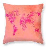 World Map 1p Throw Pillow