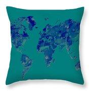 World Map 2b Throw Pillow