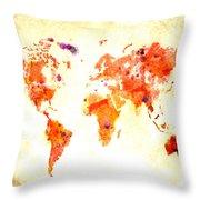 World Map 2d Throw Pillow