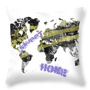 World Map Cool Throw Pillow