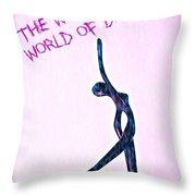 World Of Dance Throw Pillow