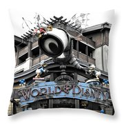 World Of Disney Signage Downtown Disneyland Sc Throw Pillow