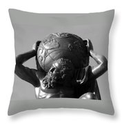 World On His Shoulders Throw Pillow