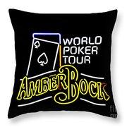 World Poker Tour And Amber Bock Throw Pillow