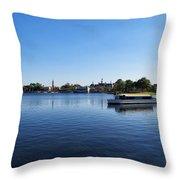 World Showcase Lagoon Walt Disney World Throw Pillow