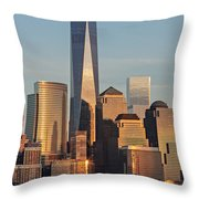 World Trade Center Freedom Tower Nyc Throw Pillow