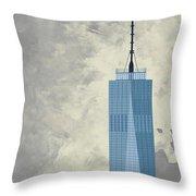 World Trade Center One Throw Pillow