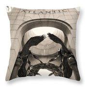 World War 2 Atlantic Memorial Throw Pillow