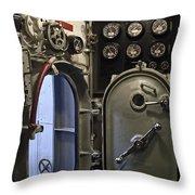 World War 2 Era Submarine Hatch - Pearl Harbor Throw Pillow