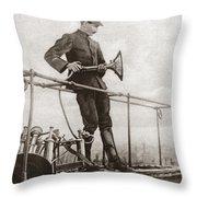 World War I Air Raid Siren Throw Pillow