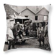 World War I: Ambulance Throw Pillow