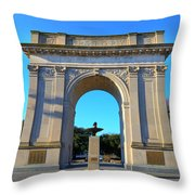 World War I Victory Arch Newport News Throw Pillow