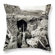 World War I: Wounded, 1918 Throw Pillow