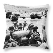 World War II: D-day, 1944 Throw Pillow