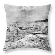 World War II Hiroshima Throw Pillow