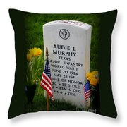 World War II Legend Throw Pillow