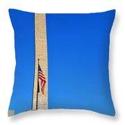World War II Memorial And Washington Monument Throw Pillow