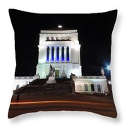 World War Memorial In Indianapolis Throw Pillow