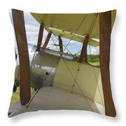 World War One Classic 1916 Sopwith Pup Biplane Throw Pillow