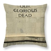 World War Two Our Glorious Dead Cenotaph Throw Pillow