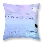World Water Day Throw Pillow