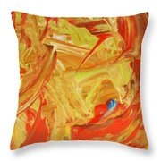 World Wide Abstract Throw Pillow