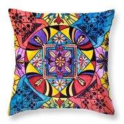 Worldly Abundance Throw Pillow by Teal Eye  Print Store