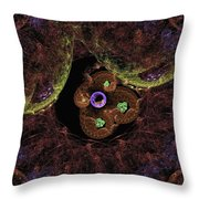Worlds And Swirles Throw Pillow