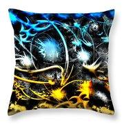 Worlds Collide Throw Pillow