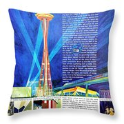 Worlds Fair 1962 Throw Pillow