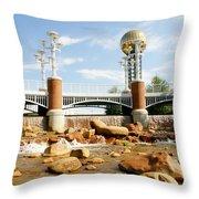 World's Fair Park Throw Pillow