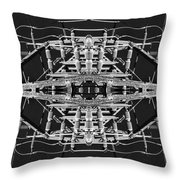 Worm Hole Generator Throw Pillow
