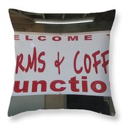 Worms And Coffee Junction Throw Pillow