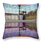 Worms And Coffee Sign Throw Pillow