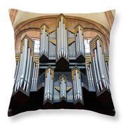 Worms Cathedral Organ Throw Pillow