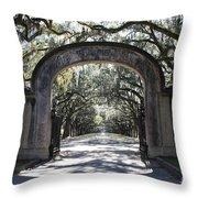 Wormsloe Plantation Gate 2x3 Throw Pillow