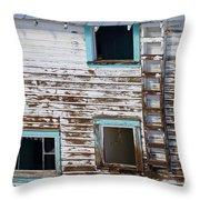 Worn And Blue Throw Pillow
