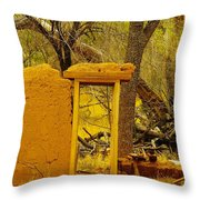 Worn And Weathered Throw Pillow by Jeff Swan