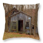 Worn Out Shed Throw Pillow