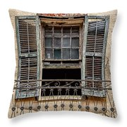 Worn Window Throw Pillow