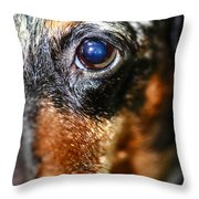 Worried Wiener Throw Pillow