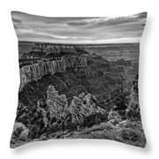Wotan's Throne North Rim Grand Canyon National Park - Arizona Throw Pillow