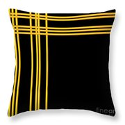 Woven 3d Look Golden Bars Abstract Throw Pillow