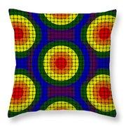 Woven Circles Throw Pillow