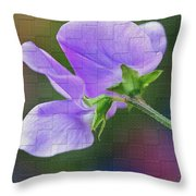Woven Floral Throw Pillow