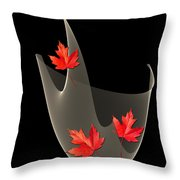 Woven Maple Leaves Throw Pillow